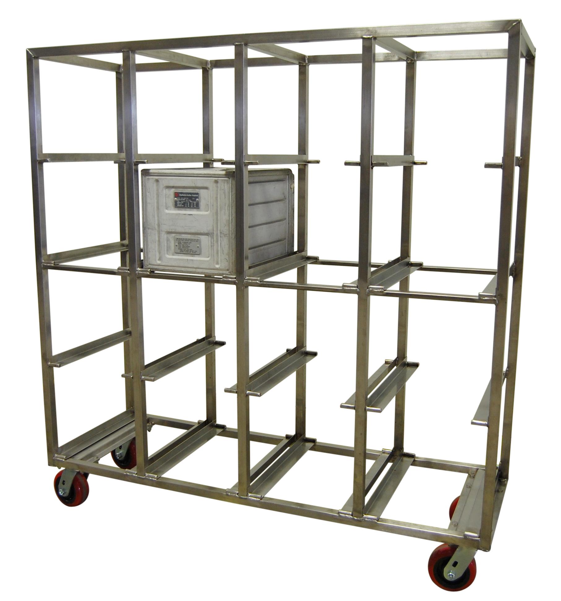 Airline Galley Transport Storage 16 Bin Rack Ela Enterprises