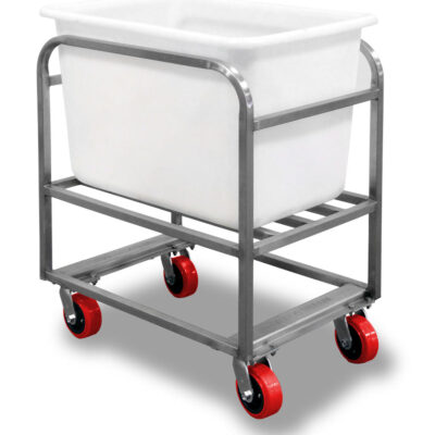Bulk Tub Bin Cart with white tote