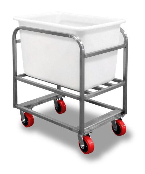 Bulk Tub Bin Cart with white tote