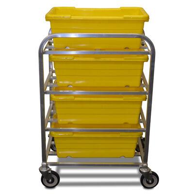 Tub Carrier, meat mixing tubs carrier, lug bin dolly, Aluminum Lug Cart www.elaent.com